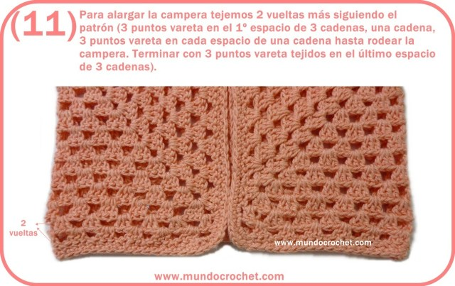 Patron campera o saquito tejida con 2 hexagonos a crochet o ganchillo con paso a paso o tutorial