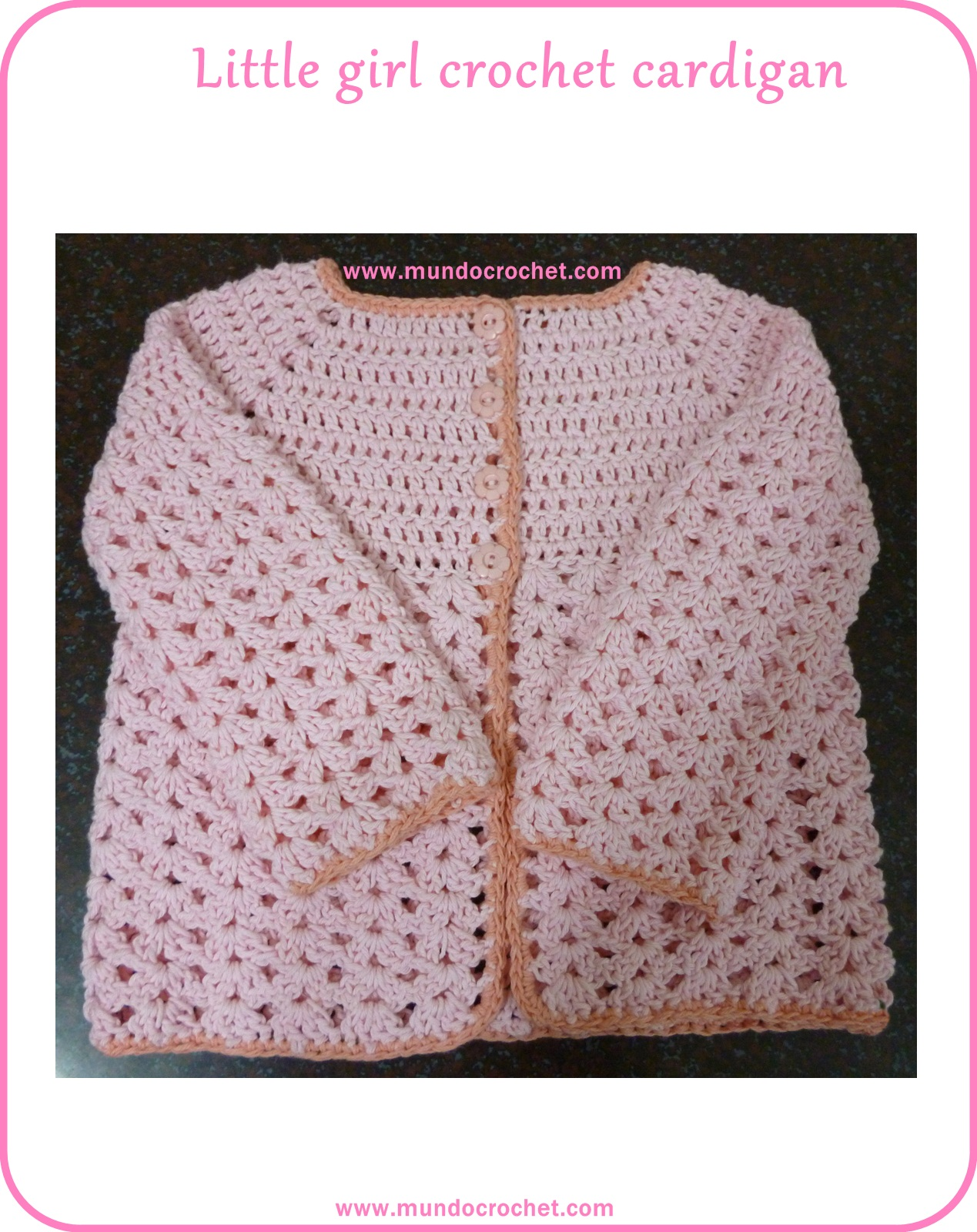 Little girl crochet cardigan