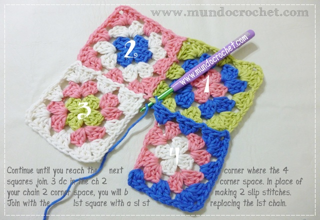 How to join granny squares13