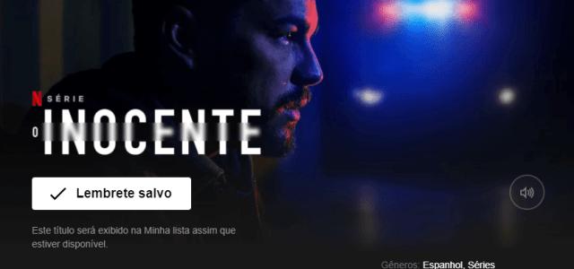 O Inocente – Série Baseada no Livro da Harlan Coben já está na Netflix