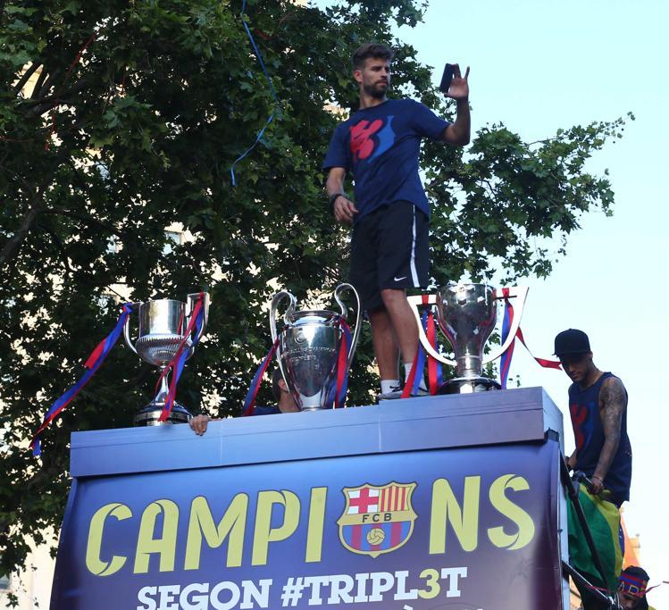 FC Barcelona La Rua del Triplete. Foto: PEP MORATA