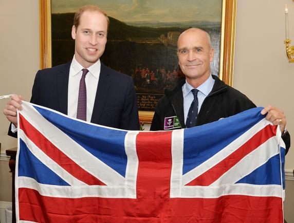 Worsley con el Príncipe Guillermo