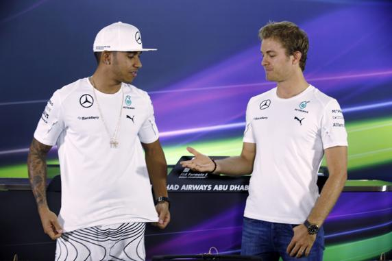 La relación entre Hamilton y Rosberg fue muy tensa durante todo el año y ellos mismos aclararon que ya no eran amigos como antes