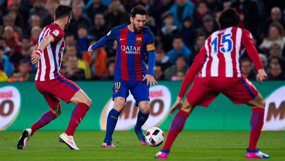 Resultat d'imatges de Barça - Atletico accion