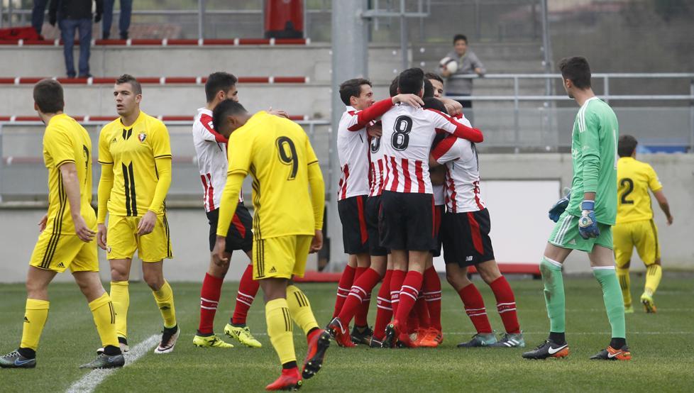 El Bilbao Athletic se impuso 2-0 a Osasuna B en el último partido jugado en Lezama