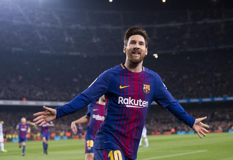 Messi celebrando el segundo gol ante el Espanyol.