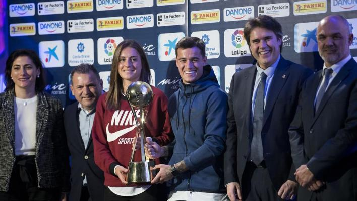 Alexia Putellas and Philippe Coutinho present the edition of the MIC 2018