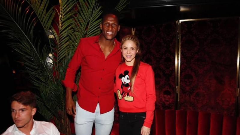 Shakira y Yerry Mina, en la cena del Barça