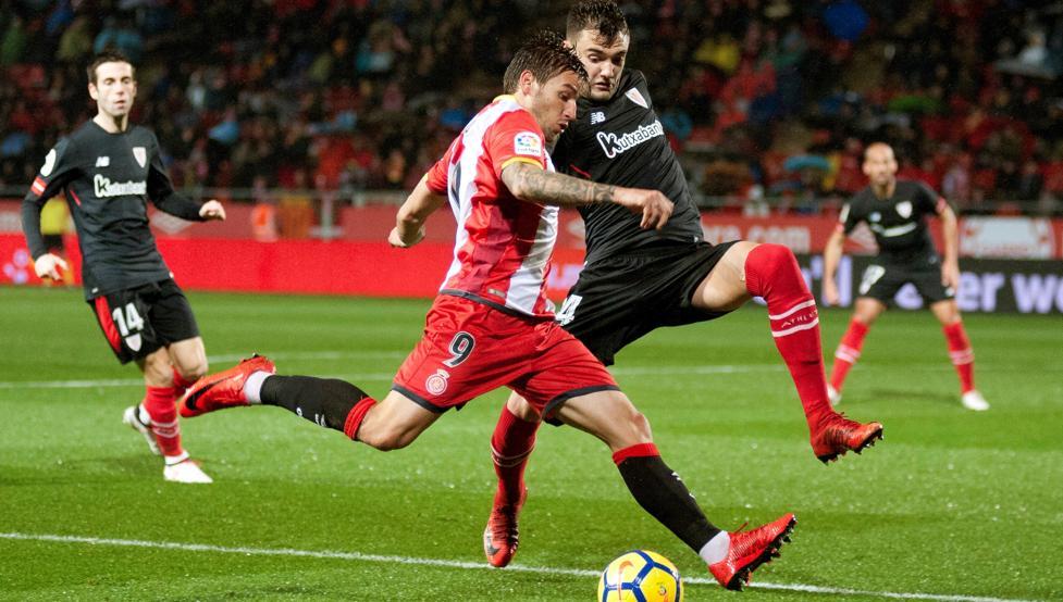 Portu se marchó de Andoni López y sirvió en bandeja el 2-0 a Stuani.