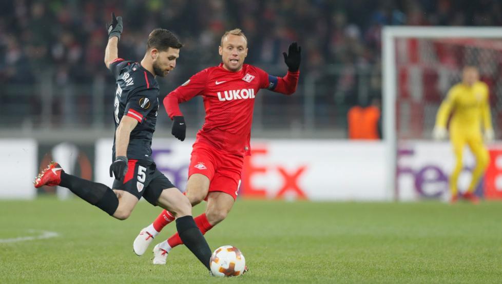 Yeray Álvarez firmó un partido brillante ante el Spartak