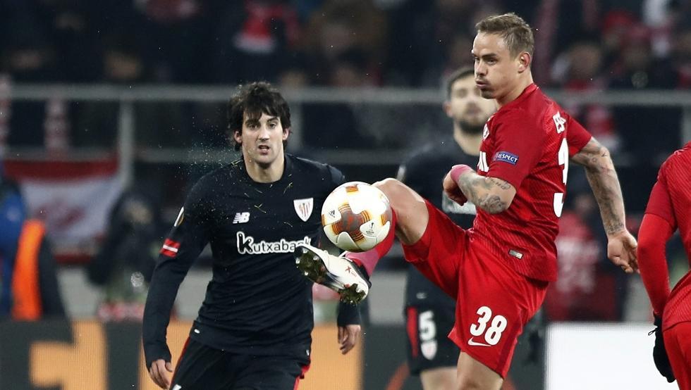 San José jugó el jueves ante el Spartak de Moscú. Salió en el segundo periodo en sustitución de Susaeta