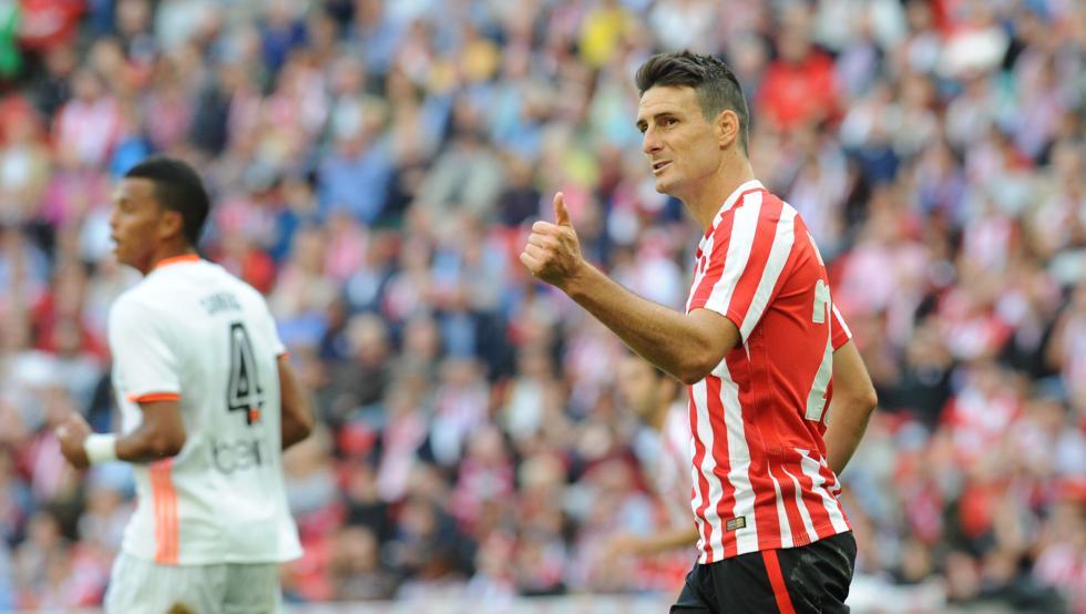Aduriz le ha marcado diez goles al Valencia desde su regreso a Bilbao.