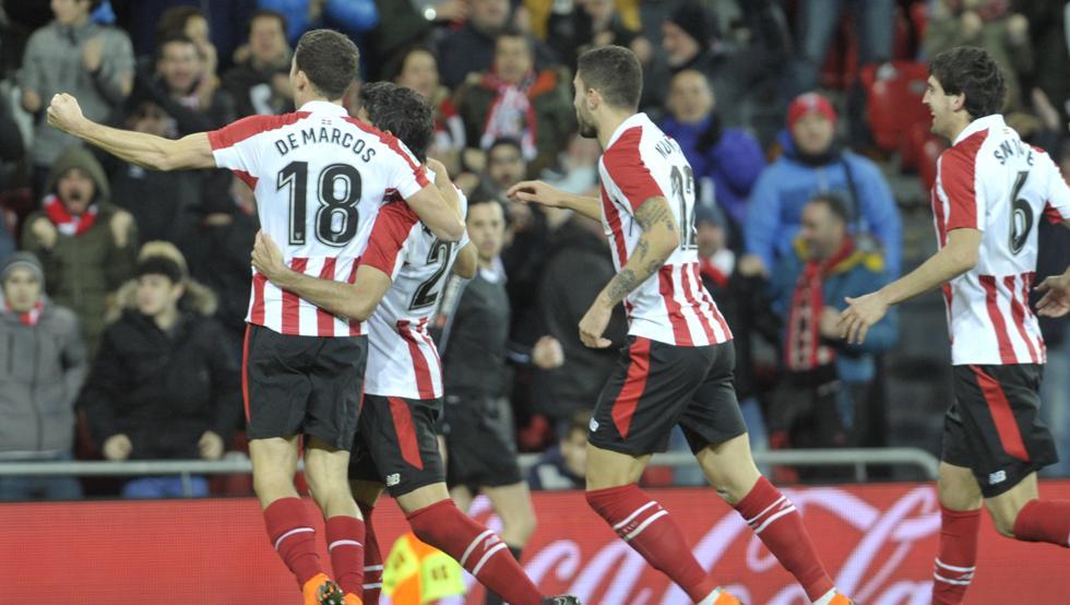 De Marcos se reencuentra con el gol en vísperas de su visita al Pizjuán, donde firmó la última victoria del Athletic en Liga.