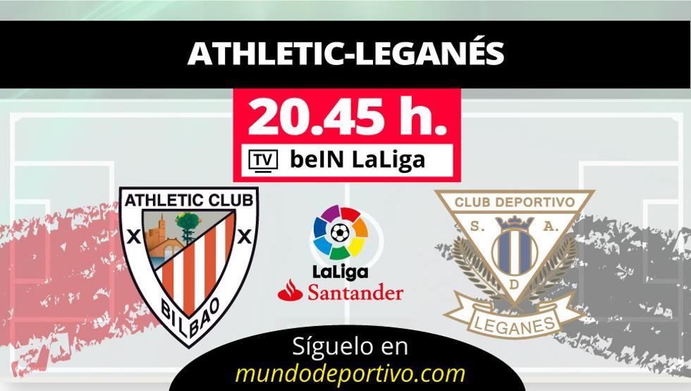 Athletic y Leganés se citan esta noche en San Mamés