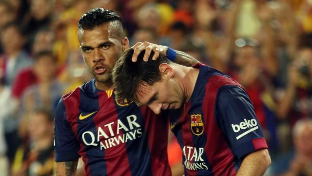 """Barça Dani Alves: """"Si hay alguien de quien no se puede hablar mal ..."""