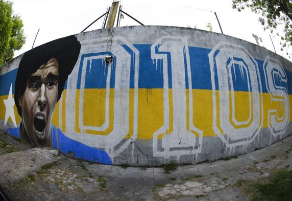 Mural dedicado a Diego Armando Maradona en Buenos Aires