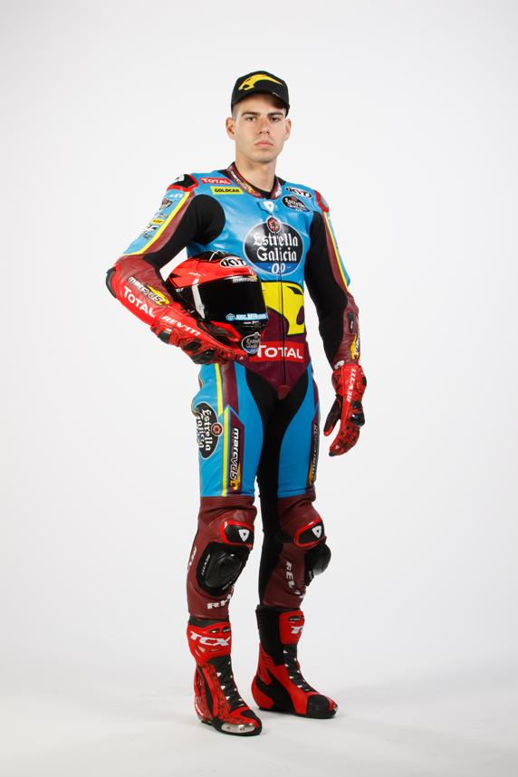 Augusto Fernandez, pilot of the Star Galicia0,0 Marc VDS Moto2