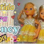DIY Vestido sencillo para la muñeca Nancy