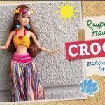 Traje Hawaiano para muñecas Tejido a Crochet