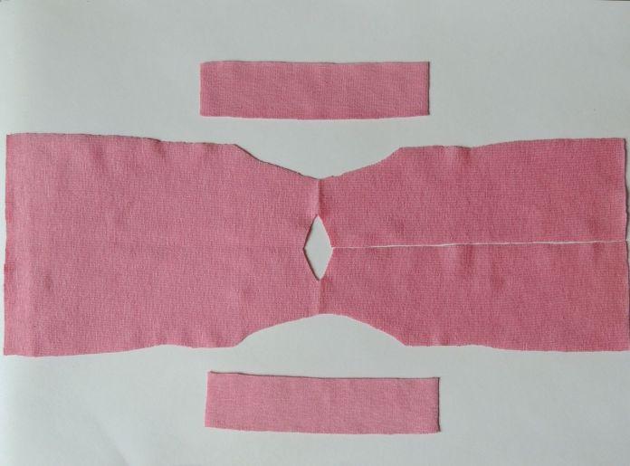 Corte de tela para confeccionar vestido
