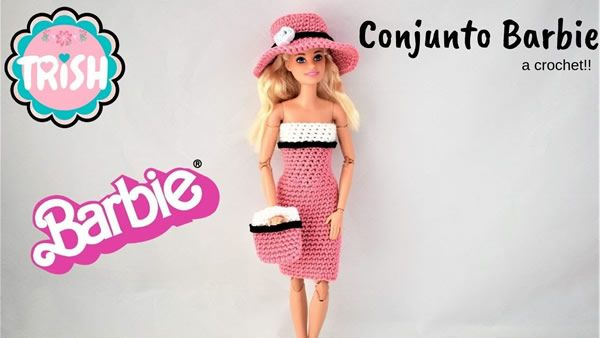 DIY Conjunto para Barbie tejido a crochet muy fácil