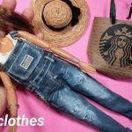 Peto pantalón vaquero Barbie con patrón
