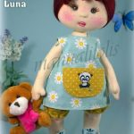 DIY Muñeca de tela Luna con patrones