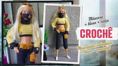 Ropa a crochet para barbie