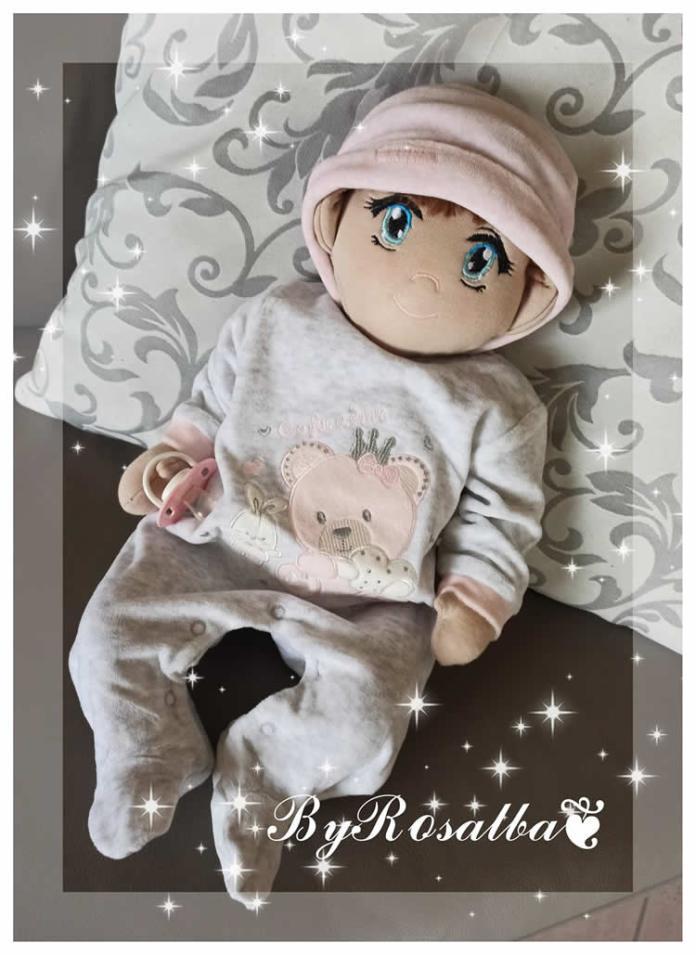 Muñeco de tela Bebé con patrón gratis