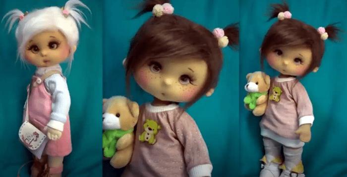 Ojos para muñeca con botones normales