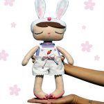 Muñeco conejito de peto con moldes gratis