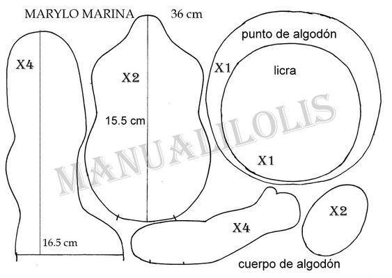 Patrones de cuerpo Marina