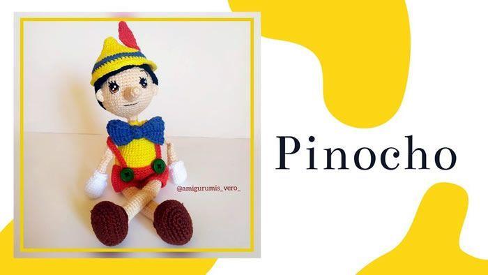 Patrón Pinocho amigurumi paso a paso
