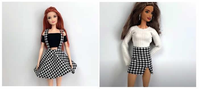 2 Conjuntos sin coser para la Muñeca Barbie DIY paso a paso