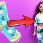 2 conjuntos de ropa para la muñeca Barbie DIY paso a paso