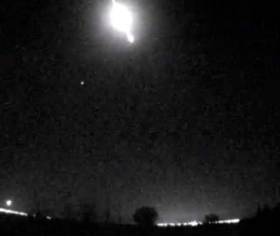 Misteriosa bola de fuego ilumina los cielos de Espana Misteriosa bola de fuego ilumina los cielos de España