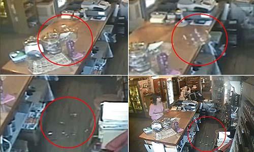 magasin de phénomènes paranormaux - Une caméra de surveillance capture les phénomènes paranormaux à l'intérieur d'un magasin