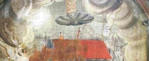 Resultado de imagen de ovnis en pinturas