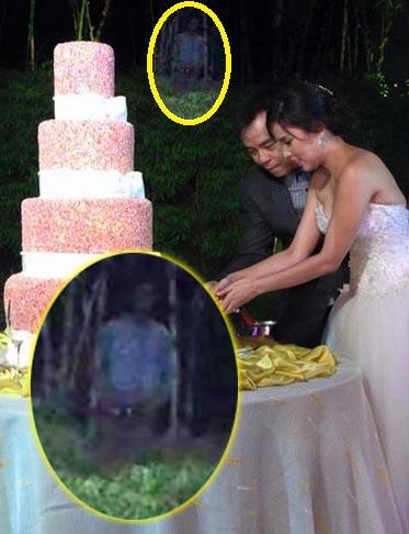 figure fantomatique mariage d'une chanteuse philippine - une figure fantomatique terrifiante apparaît lors du mariage d'un célèbre chanteur philippin
