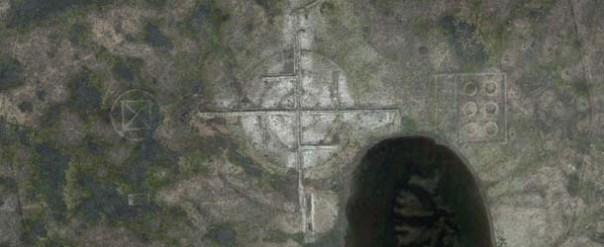 Descubren una esvástica gigante cerca del Área 51