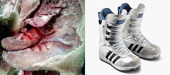 Momia con botas Adidas