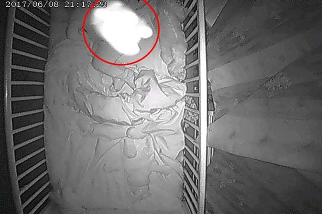 ghost baby in the crib