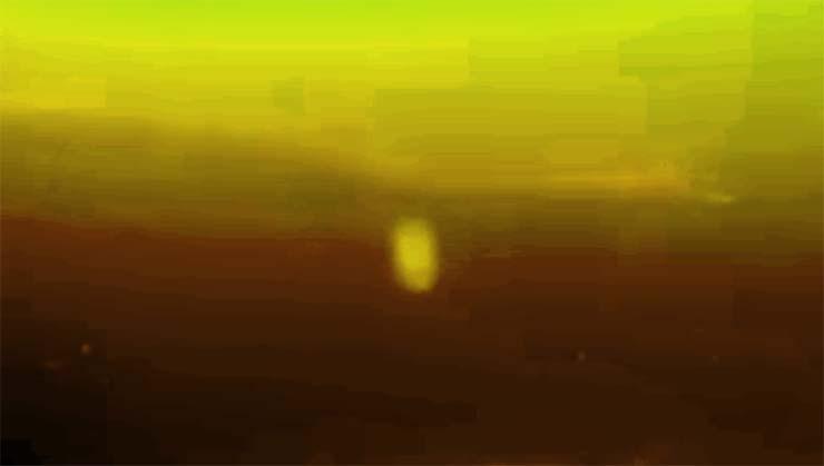 Loch Ness monster underwater camera - An underwater camera first records the Loch Ness monster