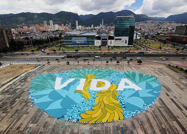 Obra de Boamistura en Bogotá, Colombia