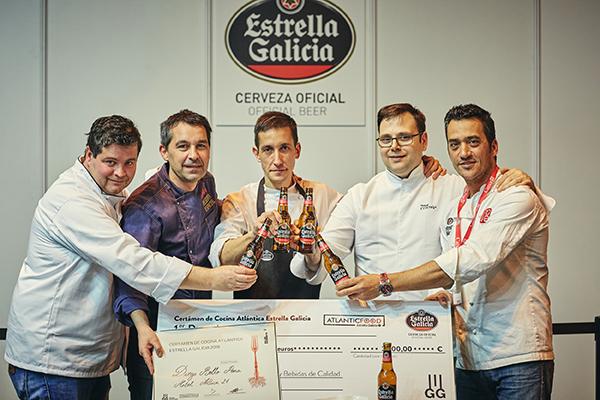 Su propuesta ha conquistado al jurado del primer certamen Estrella Galicia de Cocina Atlántica