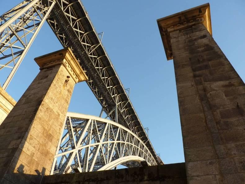 Ponte Pensil Ponte Luis I Porto Portugal Mundo Indefinido