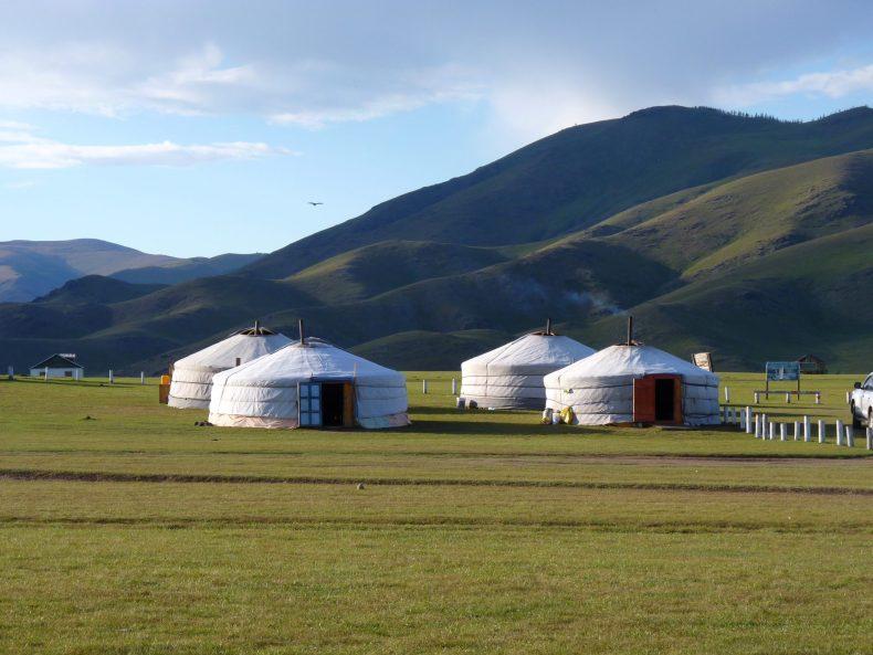 Acampamento nómada 02 Mongólia Mundo Indefinido
