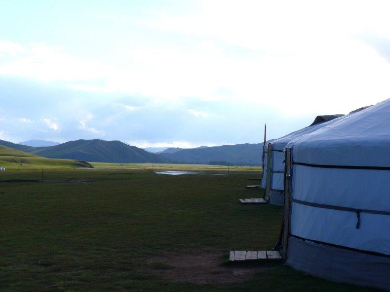 Acampamento nómada 03 Mongólia Mundo Indefinido