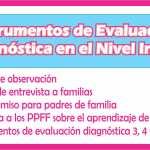 Instrumentos de evaluación diagnóstica para el nivel inicial | Descargue gratis en word