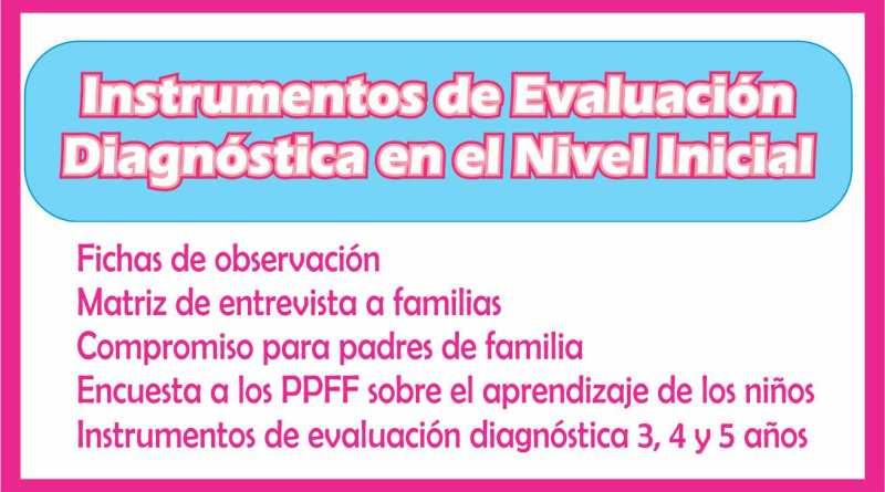 Instrumentos de evaluacion diagnostica